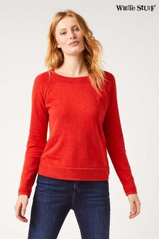 White Stuff Orange Promenade Cotton Jumper