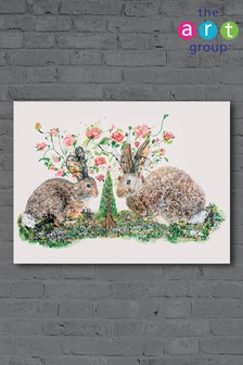 Rabbits & Roses by Kathryn McGovern Canvas