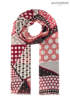 Accessorize Bon Bon Cut About Spot Scarf