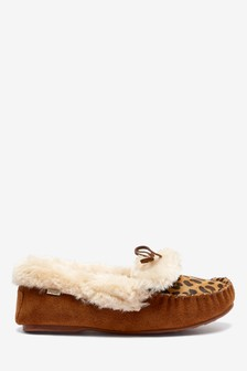 Semišové mokasínové papuče