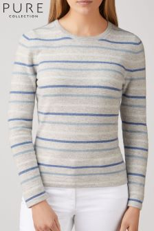 Pure Collection Kaschmir-Pullover, grau
