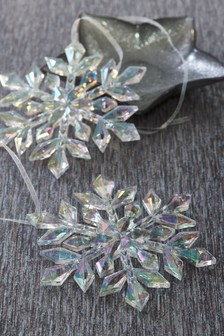Set of 2 Snowflakes Baubles