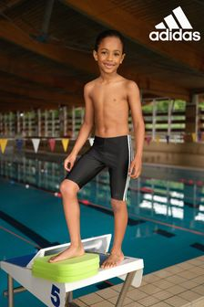 adidas Black 3 Stripe Jammers Swim Shorts