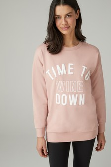Wine Slogan Sweat