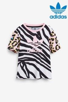 adidas Originals Little Kids Animal Print T-Shirt