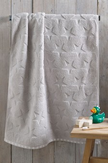 Childrens Grey Star Towels