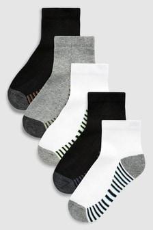Mid Cut Sport Socks Five Pack (Older)