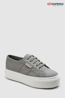 Superga® Grey Platform 2790 Trainer