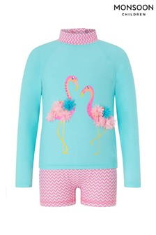 Monsoon Turquoise Finessa Flamingo Sunsafe Surfsuit