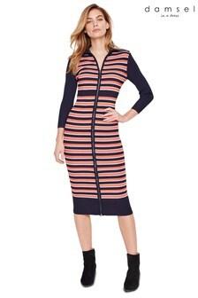 Damsel In A Dress Multi Mita Stripe Rib Knitted Dress