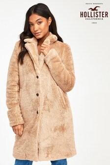 Hollister Tan Teddy Coat