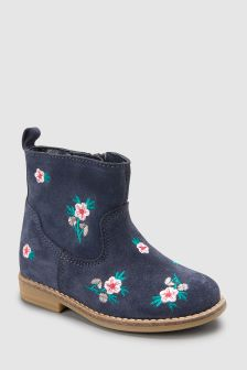 Embroidered Ankle Boot (Younger)