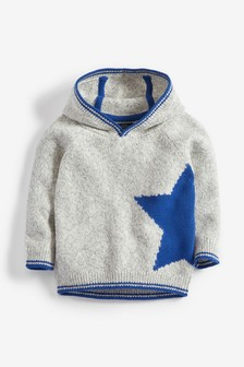 Star Cosy Knitted Hoody (3mths-7yrs)