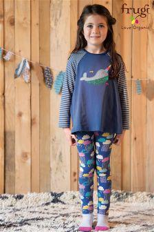 Frugi Blue Libby Printed Bright Scandi Skies Legging