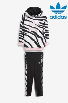 adidas Originals Little Kids Animal Print Hoody And Leggings Set