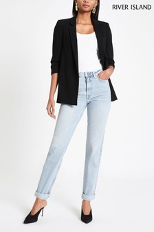 River Island Auth Freddie Helle Mom-Jeans