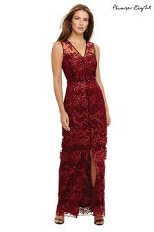 Phase Eight Red Jolene Sequin Lace Maxi Dress a7e1fa85b