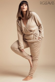 Figleaves Camel Lounge Super Soft Lounge Jumpsuit