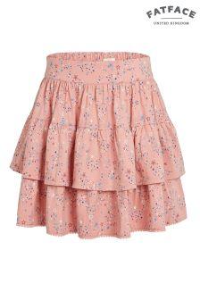 FatFace Dusky Pink Star Print Rara Skirt