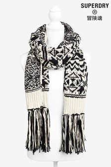 Superdry Black/White Scarf