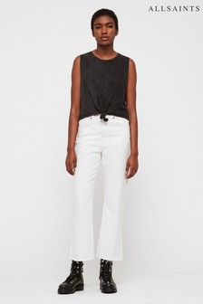 AllSaints White Mom Fit Ava Jean