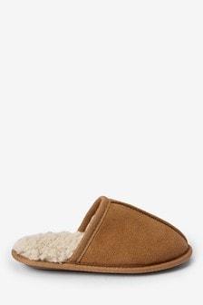 Warm Lined Mule Slippers (Older)