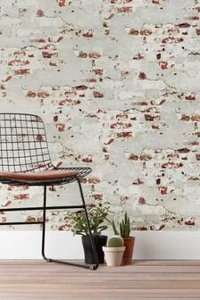 Paste The Paper Distressed Brick Wallpaper