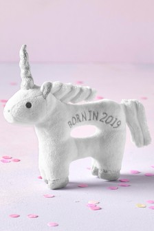 Born In 2019 Unicorn Rattle