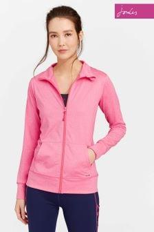 Joules Pink Active Zip Through Sweat Top