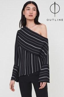Outline Black Carlton Stripe Top
