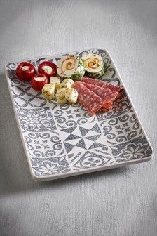 Tile Print Serve Tray