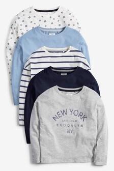 5 Pack Long Sleeve T-Shirts (3-16yrs)
