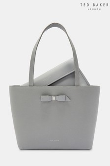 e74231b3bfa3d Ted Baker Grey Bow Shopper Bag