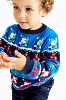 Рождественский джемпер с узором фер-айл (3 мес.-7 лет)