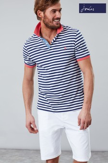 9ddf04ab73694 Joules Blue Clarkwell Jersey Stripe Polo
