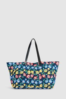 Floral Print Shopper