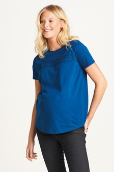 Maternity Lace Trim Tee