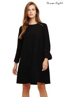 Phase Eight Black Chelsie Button Shoulder Dress