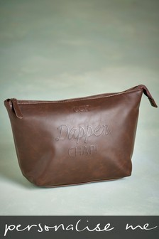 Personalised Dapper Chap Wash Bag
