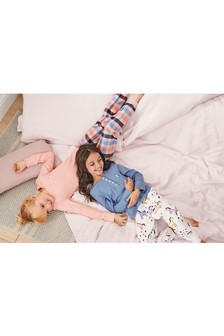 Check/Unicorn Woven Bottom Pyjamas Two Pack (3-16yrs)