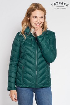 FatFace Green Lauren Lightweight Padded Jacket