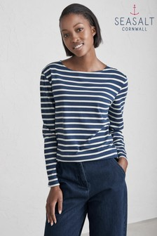 Seasalt Blue/Ecru Sailor Breton Night Shirt