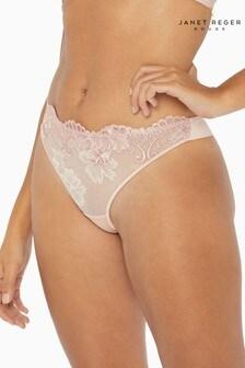 Janet Reger Rouge Pink Thong
