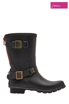 Joules Black Mid Biker Welly