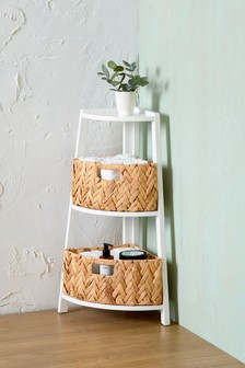Woven Two Drawer Storage Unit