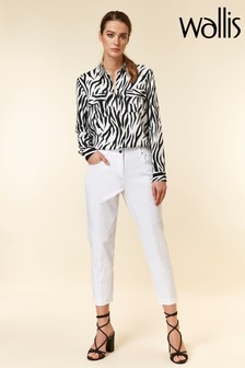 Wallis White Cropped Trouser