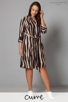 Live Unlimited Animal Print Dress