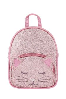 Angels by Accessorize Pink Glitter Party Cat Backpack