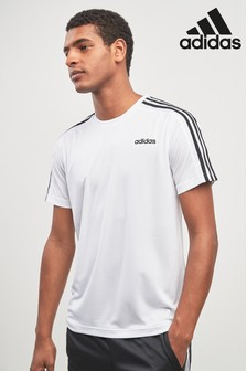 adidas Gym DTM 3 Stripe Tee