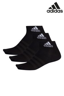 adidas Kids Black Mid Cut Socks Three Pack